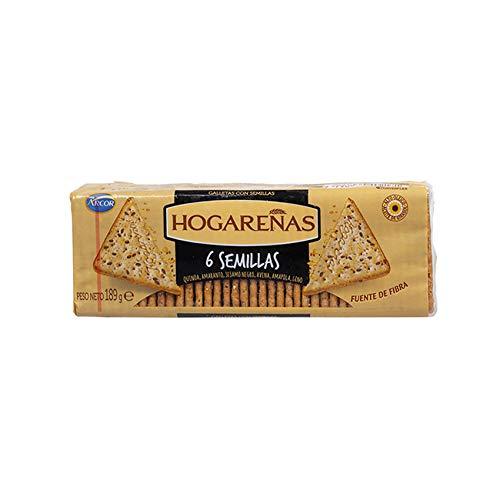 Hogareñas Crackers con cereales sabor 6 semillas 189g