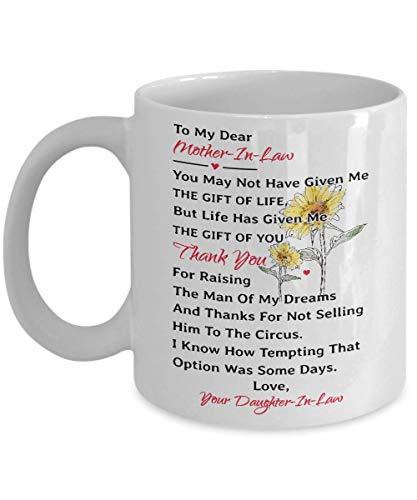 a la taza de mi querida suegra Es posible que no me hayas dado el regalo de la vida, sino la vida - Regalo para la suegra de la nuera - Taza de regalo de suegra - Taza del día de la madre / Navidad /