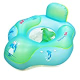 Shyneer Flotador de piscina para bebés, anillo inflable de natación para bebé, flotador para piscina con bomba manual (actualización, S, para 3 – 9 meses)