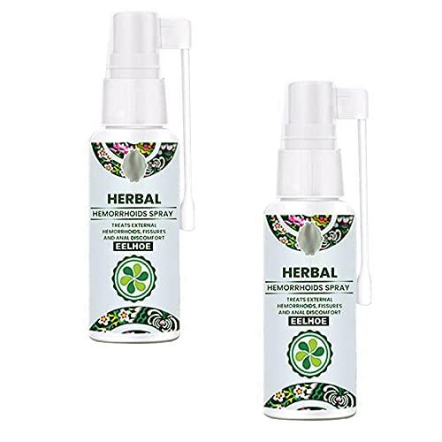 EFEG Natural Herbal Hemorrhoids Spray, Hemorrhoids Spray Bottle, Hemroid Treatment, Fast Relief of Hemorrhoids and Anal fissures, 100% Natural Formula (2PCS)