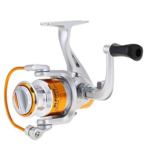Soapow 12BB 5.5:1 Fundición Metálico Spinning Pesca Carrete Rueda Tackle Accesorios