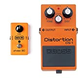 MXR M101 Phase 90 Guitar Effects Pedal & BOSS DS-1 Distortion Pedal, Classic TOnes For All Types of Music