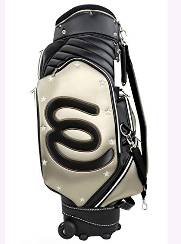 Read About MU Sports Ladies Golf Wheel Caddie Bag, 703W7151 (Gold)