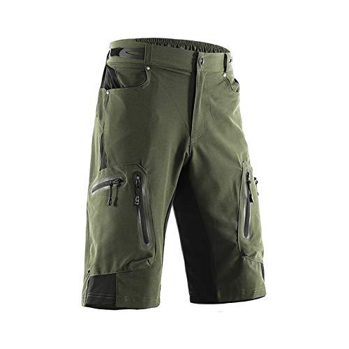 WYX Herren Radhose Radhose Baggy Shorts Atmungsaktiv Schnelltrocknend Wasserdicht Reißverschluss Sport Mountainbike,a,XL