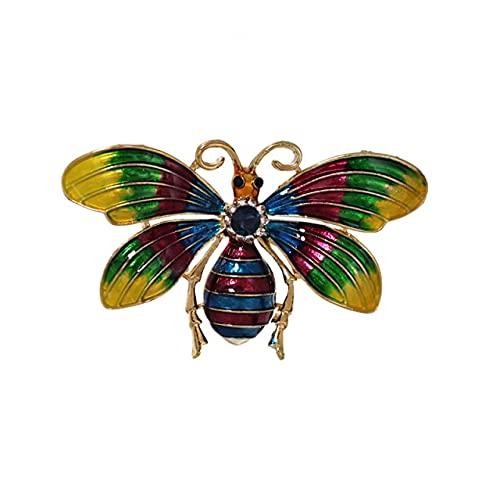 Broches de cristal de libélula para mujeres niña joyería verde bufanda solapa alfileres broche accesorios antiguos