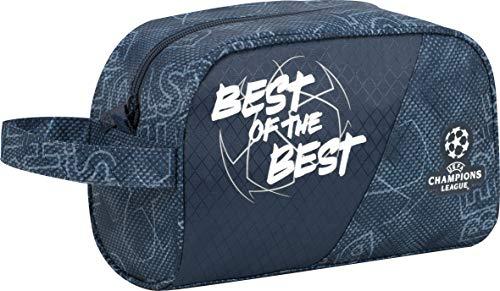 Sportandem Neceser de Viaje Champions The Best, Organizador de Equipaje de Mano Adaptable a Carro de Mochila, con Bolsillo de Gran Capacidad y Asa para Transporte - Medidas 25 x 15,5 x 11, C2