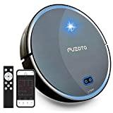 Robot Vacuum and mop, FUZOTO F8S Robot Vacuum with Mapping Technology, 1800Pa Strong Suction, Alexa & App Control, Ideal for Hair, Carpets, Hard Floors, Self-Charging Robotic Vacuum, Black
