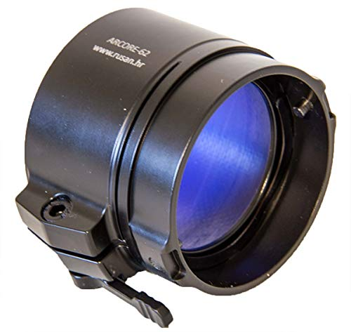 Rusan Adapter für Pulsar Vorsatz Wärmebildgeräte und Nachtsichtgeräte, einfache Montage auf Ferngläser, Spektive und mehr (für Pulsar Core, DFA75, DN55, 57 mm (Außen-Ø Nicht Linsen-Ø!))