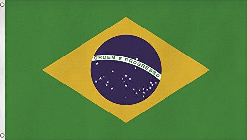 normani Fahne mit Messingösen 90 x 150, 150 x 250 oder 300 x 500 cm wählbar Farbe Brasilien Größe 90 x 150