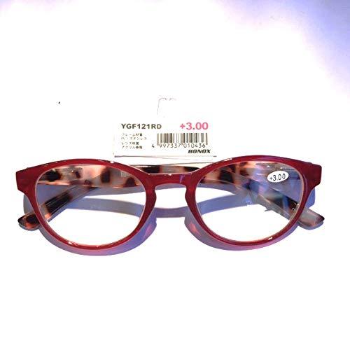 YGF121 BONOX ダルトン おしゃれ 老眼鏡 シニアグラ Reading Glasses (RD (RED), 1.0)