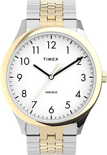 Timex Modern Easy Reader 40mm Mens Two-Tone Expansion Band Watch TW2U67400