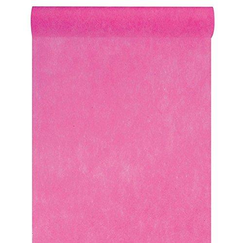 Artificielles - Chemin de table fuchsia uni en tissu non tisse 30 cm x 10 m - choisissezvotrecoloris: chemin de table fuchsia