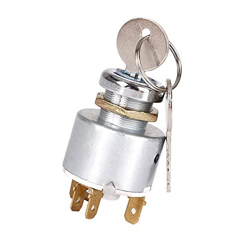 RUIZHI Interruptor de Encendido, 12V Universal Interruptor de Control de Encendido Automático del Coche con 2 llaves para Automóviles Motocicletas Barcos