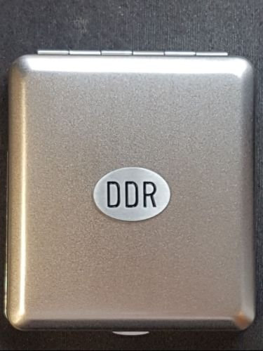 Zigaretten Etui Zigarettenetui DDR Emblem Metall BOX Emblem NEU+OVP