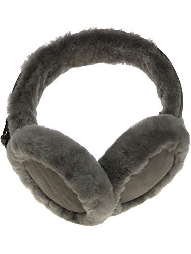 Harrys-Collection Damen Ohrenschützer aus Lammfell, Farben:grau, Kopfgröße:Einheitsgröße