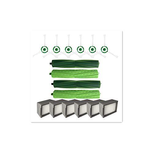 14 Stück Seitenbürste & Hepa-Filter & Borstenbürste,Ewendy Ersatz für iRobot Roomba i7 i7+/i7 plus E5 E6 E7 Staubsauger