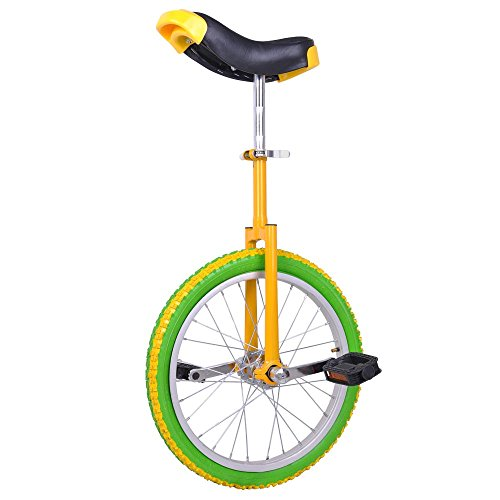 Find Discount AW Yellow Green 18 Inch Wheel Unicycle Leakproof Butyl Tire Wheel Cycling Outdoor Spo...
