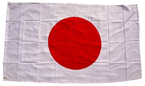 trends4cents Top Qualität - Flagge Japan Asien Fahne, 250 x 150 cm, extrem reissfest, Keine billige Chinaware, Stoffgewicht ca. 100 g/m², sehr robust, extra Starke Messing-Ösen