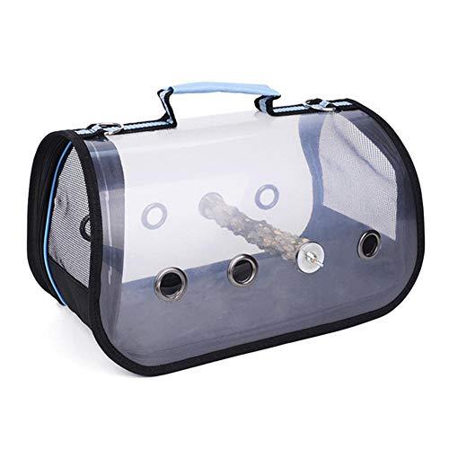 Transparenter Vogelträger, Vogelreisekäfig, leichter Vogelträger, transparente, durchsichtige, atmungsaktive Papageien-Reisetasche, Haustierkäfig, geeignet für kleine Vögel, Katzen und kleine Hunde