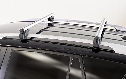MENABO Barres de Toit Alu Sherman 120 Jaguar X Type break modèles à partir de 04 Jusqu'à 75 kg verrouillable
