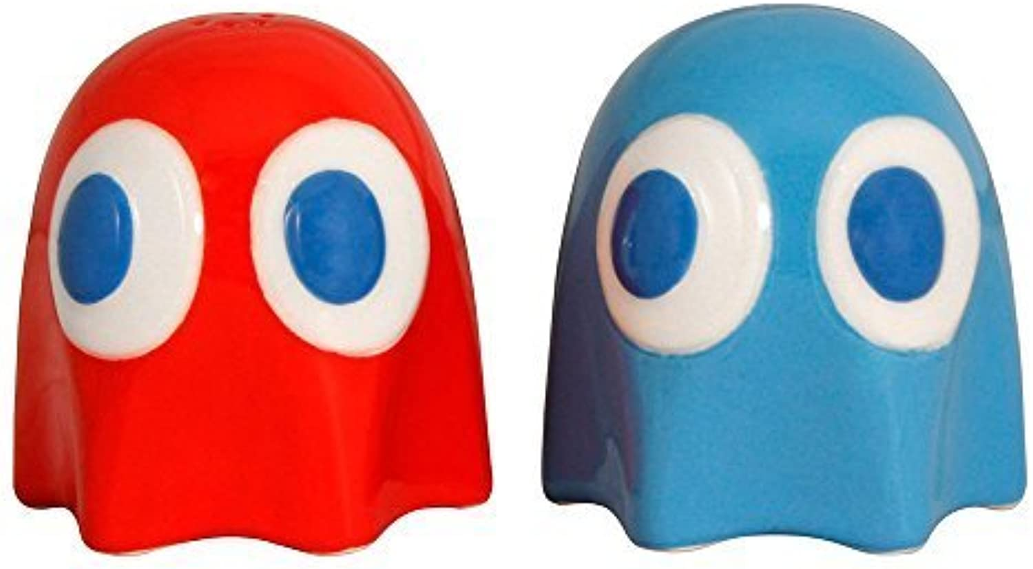 Pac Man Ghost Salt And Pepper Pots by N A