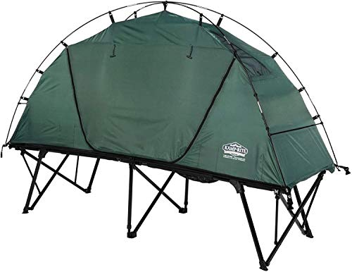 Kamp-Rite CTC XL Compact Collapsible Sleeping 3 in 1 Tent Cot for 1 Person with Roller Storage Bag, Quick and Easy Setup, Green