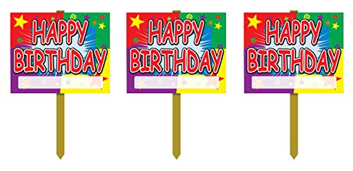 Beistle Yard Signs Party Decorations, 3 piece, Multicolored
