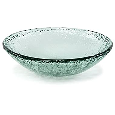 100% Recycled Glass Textured Large Serving Bowl - 16.5 Dx4.75 H