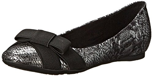 CL by Chinese Laundry Women's Amuse Ballet Flat, Pewter/Black, 9 M US