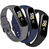 KIMILAR Correa Compatible con Samsung Galaxy Fit E 2019 [3 Pack] Correa de Recambio Silicona, Reemplazo de Banda de la Muñeca Pulseras de Repuesto Compatible con Samsung Galaxy Fit E Smartwatch