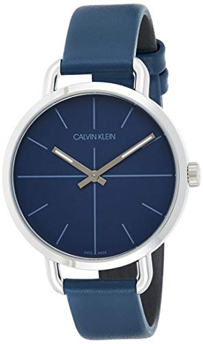 Calvin Klein Damen Analog Quarz Uhr mit Echtes Leder Armband K7B231VN