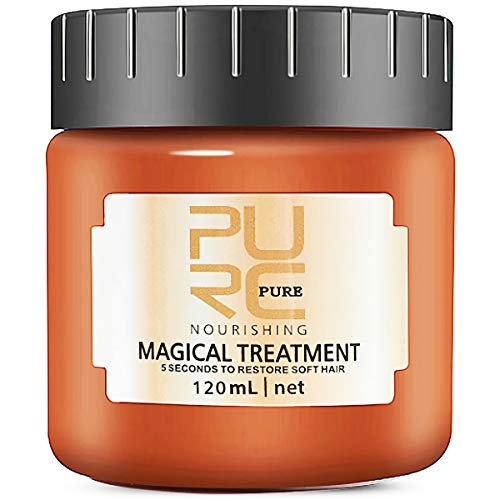 PURC Magical Hair Treatment Mask, Advanced Molecular Hair Roots Treatment Professtional Hair Conditioner, 5 Seconds to Restore Soft, Deep Conditioner Suitable for Dry & Damaged Hair - 120ml