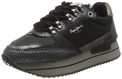Pepe Jeans London Damen RUSPER Anna Sneaker, 961GRAPHITE, 36 EU