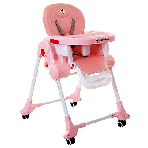 Great Deal! Child Highchair Baby Booster Seat High Chair Portable Kids Dinner Chair With Tray Feedin...