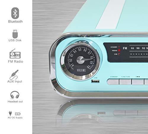 Lauson 01TT18 Platine Vinyle Vintage Design Car Collection 2 Haut-Parleurs Stéréo 3W Intégrés |...