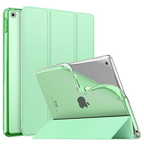 """MoKo Cover per Nuovo iPad 8a Generazione 10.2"""" 2020 / iPad 7a Gen 2019, Custodia Ultra Sottile Leggero Tri-Fold Auto Sveglia/Sonno con Retro Semi-Trasparente in TPU per iPad 10.2"""", Verde"""