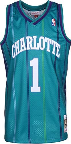 Mitchell & Ness Baron Davis #1 Charlotte Hornets 1999-2000 Swingman NBA Trikot Türkis, XL