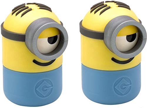 WMF Minions - Set di 2 pezzi, a partire da 3 anni, saliera e pepiera con meccanismo di ribaltamento, in plastica, senza BPA