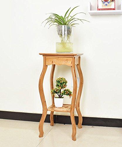Étagère à fleurs en bambou pour intérieur ou balcon - Dimensions : 30 x 30 x 70 cm
