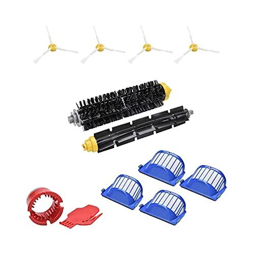 Yang Kit de Piezas de Repuesto Adecuado para irobot roomba 600 Series 620 630 650 660 670 Accesorios de aspiradora robótica (Color : Bruin)
