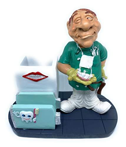 Yuna Porta tarjetas de visita de mesa/pisapapeles / porta bolígrafo (Dentista)