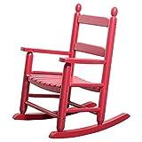 SHUILV Fauteuil à Bascule pour Enfants, Fauteuil en Bois Massif Chambre à Coucher/pépinière - Chaise à Bascule en Bois Massif Rouge Maison