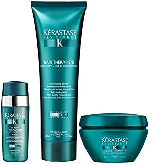 Kerastase Resistance Therapiste Shampoo, Masque and Serum Trio