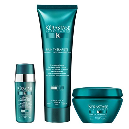 KÉRASTASE Resistance therapiste Champú 250 ml, Masque 200 ml y suero 30 ml Trio