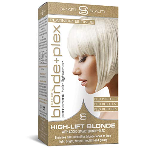 Smart Beauty | Platinum Blonde Hair Dye Permanent Hair Colour | Smart Plex Hair Bleach Kit Protects and Strengthens Hair | Lightener and Toner for Hair Natural or Coloured | Vegan | Cruelty Free