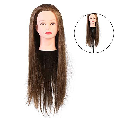 Muñecas de maniquí de cabeza de entrenamiento para tienda de sombreros, exhibición para peluqueros, peluquerías, gafas, tienda(gold)