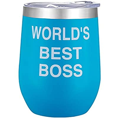 World's Best Boss – 12oz Stainless Steel Insu...