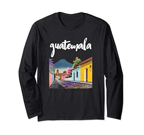 Guatemala Antigua Kaffee Chapin Quetzal Maya Guate Chamaco Langarmshirt
