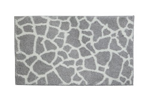 SCHÖNER WOHNEN-Kollektion, Mauritius, Badteppich, Badematte, Badvorleger, Design Steine - creme, Oeko-Tex 100 zertifiziert, 70 x 120 cm