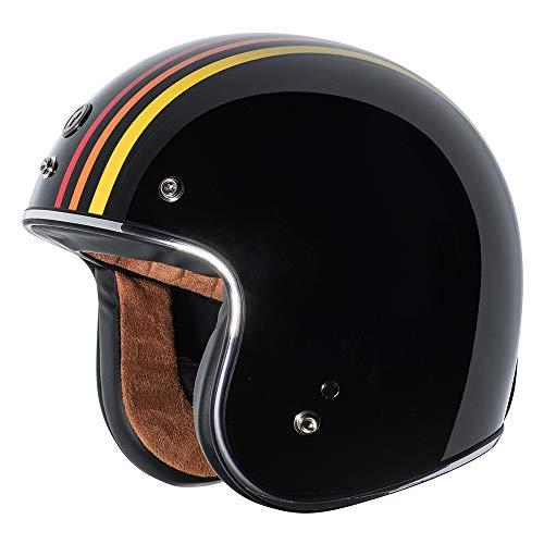 TORC - T5005SE23 unisex-adult cruiser-motorcycles T50 Route 66 Open Face Helmet Graphic, Medium (Gloss Black 1978